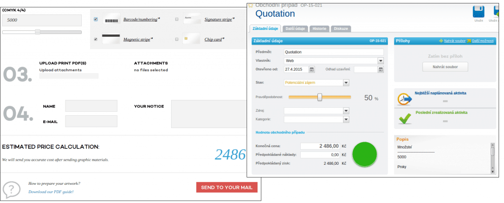 Propojení formuláře s CRM