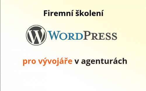 banner školení WordPress