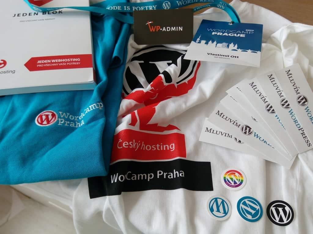 WordCamp Praha 2017 merchandising