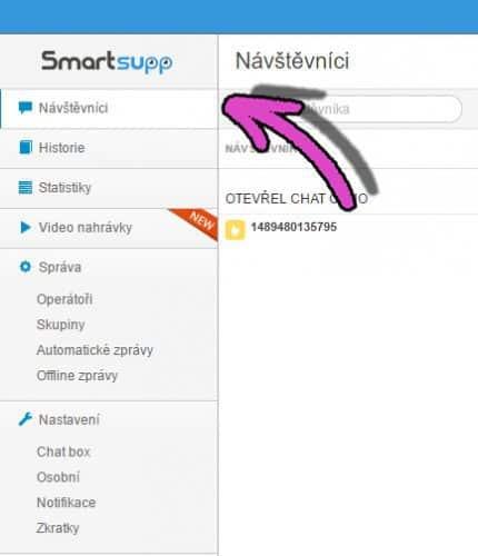 Smartsupp: ukázka administrace chatu