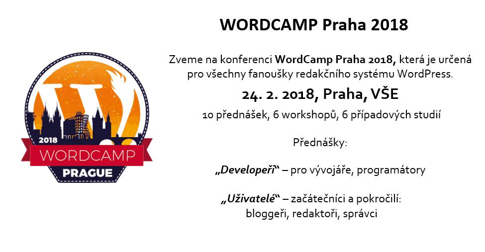 Konference WordCamp Praha 2018, Praha, VŠE