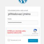 Zablokovaný přístup do webu, špatně nastavená captcha